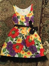 Kensie Pretty XS EASTER Spring! Lined Floral Belted Knee Length Sleeveless Dress