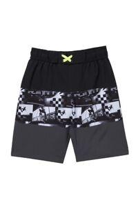 Tony Hawk Boy's XL 18/20 Black Gray Skate Photo Swim Trunks Short Board Shorts
