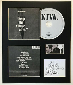 STEREOPHONICS - Signed Autographed - KEEP THE VILLAGE ALIVE - Album Display