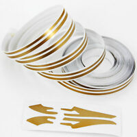 Doppel Zierstreifen Pin Stripe Bronze Gold matt 10m 10mm incl Anfang Ende