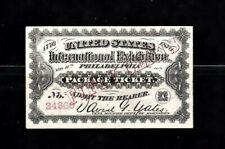1876 Centennial Exhibition Worlds Fair Philadelphia 50 Cents Ticket
