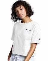 Champion Life Women Crop Tee T-Shirt Script Logo Modern Short Sleeve Vintage