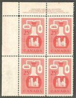 Canada 363 Chemical Industry Oil Petroleum 25c UL Plate block #1 MNH ** CV$13.50