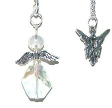 Beautiful Angel Aura Guardian Angel Pendulum or Pendant = Crown Chakra