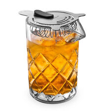 Yarai Clear Glass Cocktail Mixing Pitcher plus BONUS FREE Hawthorne Strainer