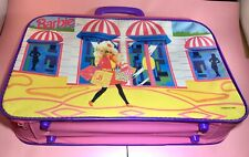 Mattel 1991 ~ Vintage Barbie ~ Child's Luggage or Suitcase ~ Pink & Purple