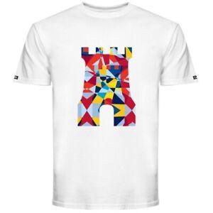 Crooks & Castles Mosaic Castle Men's T-Shirt White Size Large