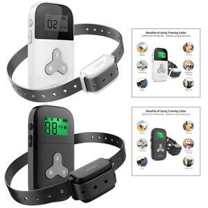 Pet Dog Shock Training Collar No Barking USB LCD Trainer Remote Control