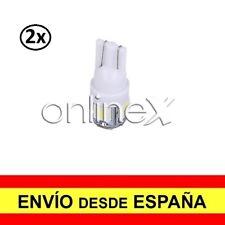 2x Bombilla LED Coche T-10 W5W 5 SMD 12V Luz Blanca Tipo XENON 6000K 2xa2537