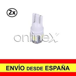2x Bombilla LED Coche T-10 W5W 5 SMD 12V Luz Blanca Tipo XENON 6000K 2x a2537