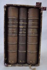BOX 3 BOOKS THOUGHTS SELECTED OF LACORDAIRE LESORT 1881 POUSSIELGUE B1037