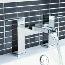 Modern Bathroom Square WATERFALL Bath Filler Mixer Tap in Chrome Basin Bathtub