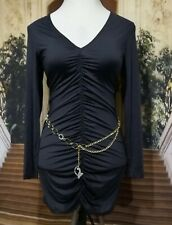 Baby Phat Black Ruched Mini Dress SIZE XL AMAZING, SEXY SUPER ATTRACTIVE!!