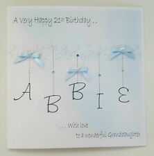 Personalised 21st Birthday Card Granddaughter Goddaughter Blue 18th 19th 20th