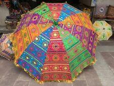 Indian Handmade Sequence Decorative Garden Umbrella Patio Restaurant Sun Parasol