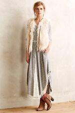 Anthropologie First Frost Vest Faux Fur By Hei Hei Ivory Sz SM $168