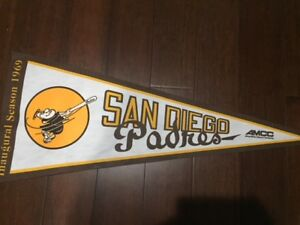 "SAN DIEGO Padres Inaugural Season 1969 MLB Baseball 37"" Replica Pennant"