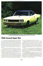 1968 Dodge Super Bee Article - Must See !!
