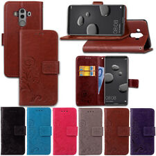 Floral Leather Flip Magnetic Card Wallet Case Cover For Samsung Huawei iPhone
