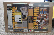 VINTAGE CEREAL BOX LYNN SWANN PITTSBURGH STEELERS SHRINK WRAPPED