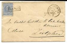 Treinstempel KR Utr: - Kampen B Hulpktr Lutten brief 5 ct em 1872 Zutphen 1875