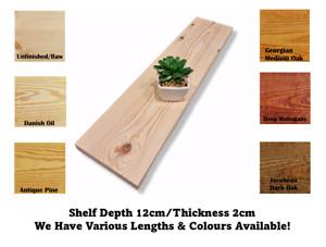 Wall Shelf Made From Solid Redwood Pine 12cm Deep Handmade Rustic
