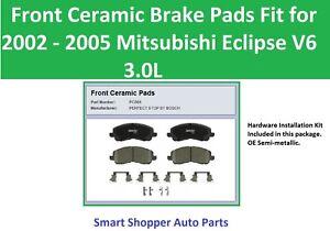 Front Ceramic Brake Pads fit for 2002 2003 2004 2005 Mitsubishi Eclipse V6 3.0L