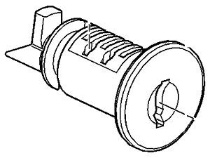Buick Chevy Oldsmobile Pontiac Instrument Panel Compartment Door Lock 15822415