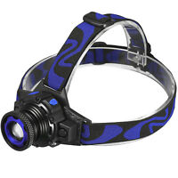 Tactical Headlight Cree XM-L 20000LM Rechargeable T6 LED Headlamp+Batt+Charger
