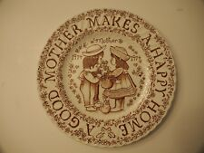 """Mother Makes A Happy Home A Good Mother Plate 8.5"""" 1974"""