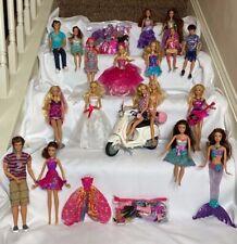 Barbie Massive Collection Lot 18 Dolls 2 Bags Clothes Accessories Vespa Friends