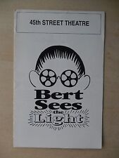 1992 - 45th Street Theatre Playbill - Bert Sees The Light - Jack Black