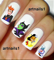 Disney Villains Nail Maleficent Art Water Decals Stickers Manicure Salon Polish