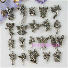 20Pcs Mixed Lots of Tibetan Silver Tone Angel Fairy Charms Pendants
