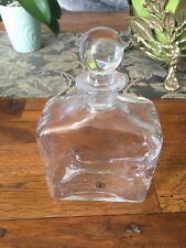 gorgeous glass decanter- 7 1/2 x 5 inches - Hand Made