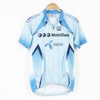 SMS Santini Cycling Jersey Shirt MOBILDATA TELENOR Men Size XL Blue