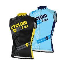 FDX Mens Sleeveless Cycling Jersey Team Racing Cycle Top Breathable Biking Shirt