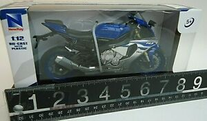 Yamaha YZF-R1 Motorcycle 1:12 Scale Die-Cast with Plastic Blue - New in Stock