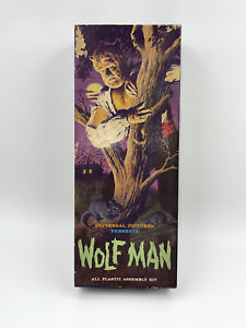 Vintage Original Aurora Wolfman 1962 Empty Box Only Very Good With Instructions