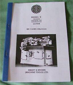 Smart & Brown Model  A  Mk1 & Mk2  Lathe Manual