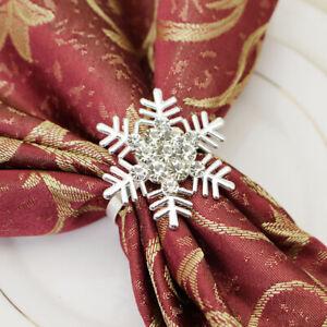 Christmas Snowflake Shaped Napkin Rings Dinning Table Setting Button Napkin R`