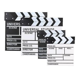 Clapperboard Clapper Board TV Film Movie Slate Sign Director's Prop Clapboard