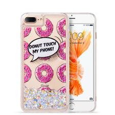 For Apple iPhone 8 & 8 PLUS Liquid Glitter Quicksand Hard Case Phone Cover