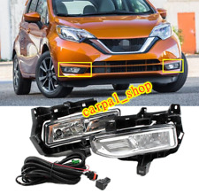 FOR Nissan Versa Note Hatchback 2017-2019 Front fog light assembly w/Bulb Switch