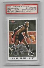 2003-04 FLEER TRADITION LAMAR ODOM AUTOGRAPH GIVEAWAY PSA DNA CERTIFIED HEAT