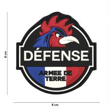 Patch 3D PVC Défense Armée de Terre écusson insigne militaire coq airsoft France