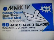 Mark IV Hair Shaper Blades 60 Count SUPER Stainless Steel Barber Razor Blades