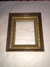 Antique Victorian Deep Well Walnut w/faux inlay Picture Frame holds 8� By 10�