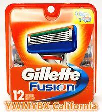 GILLETTE FUSION  RAZOR BLADES 12 Cartridges,100%AUTHENTIC,**ON SALE**,#0KA