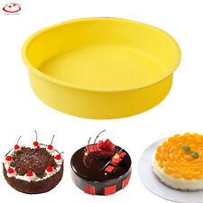Big Round Silicone Cake Mold Pan Muffin Chocolate Pizza Pastry Baking Tray Mould